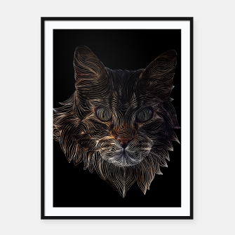 Miniature de image de Cat Abstract  Framed poster, Live Heroes