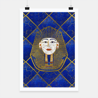 Thumbnail image of Marble & Gold pharaoh on Lapis Lazuli Poster, Live Heroes