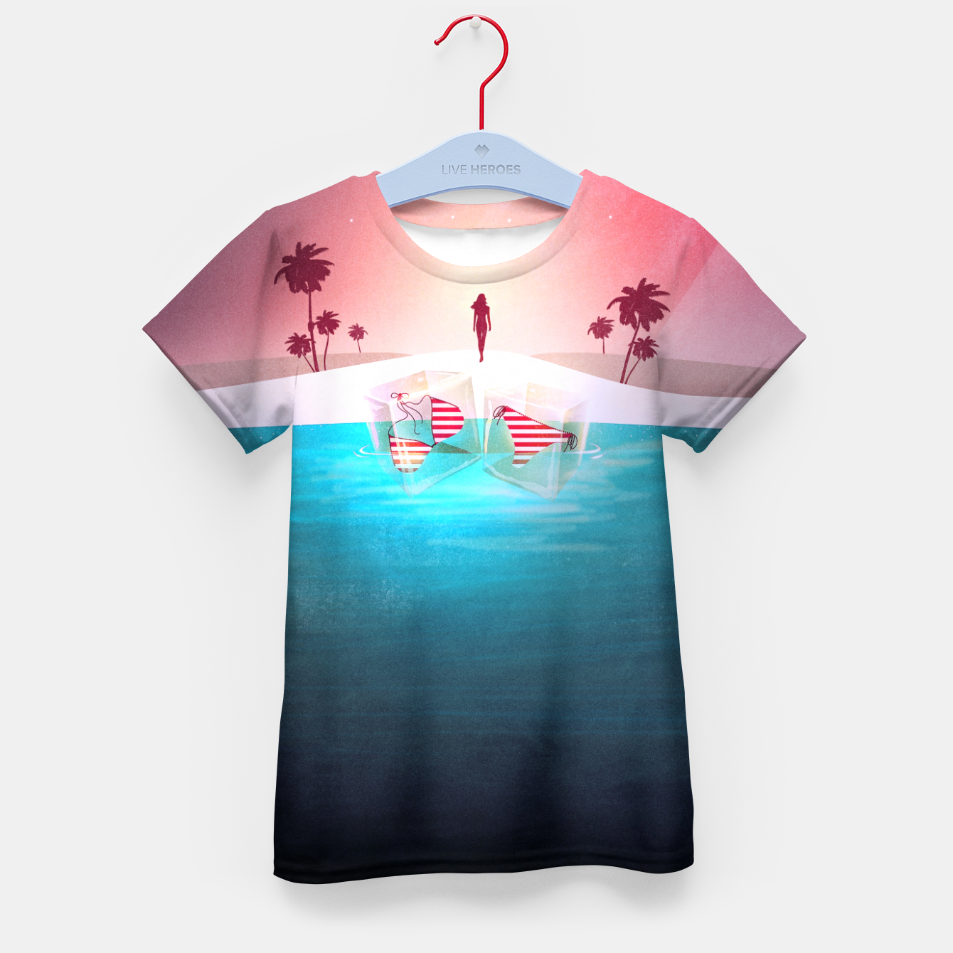 Image of Bikini Beach T-Shirt für kinder - Live Heroes