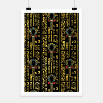 Thumbnail image of Ankh  and Egyptian hieroglyphs pattern Poster, Live Heroes