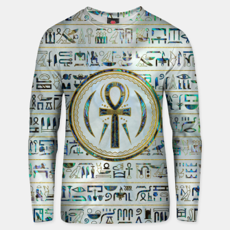 Thumbnail image of Abalone Shell Egyptian Ankh Cross symbol Cotton sweater, Live Heroes