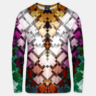 Thumbnail image of V-Stack Pyramid Abstract Art Cotton sweater, Live Heroes