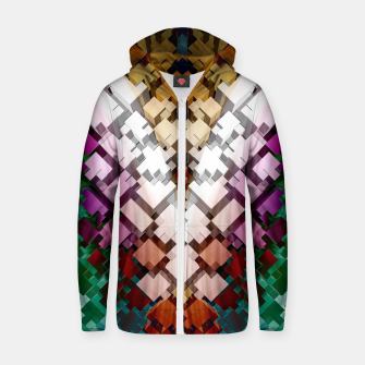 V-Stack Pyramid Abstract Art Cotton zip up hoodie thumbnail image