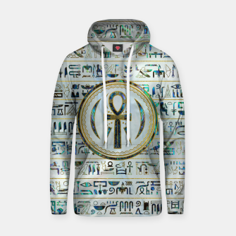 Thumbnail image of Abalone Shell Egyptian Ankh Cross symbol Cotton hoodie, Live Heroes