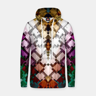 V-Stack Pyramid Abstract Art Cotton hoodie thumbnail image