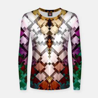 V-Stack Pyramid Abstract Art Woman cotton sweater thumbnail image