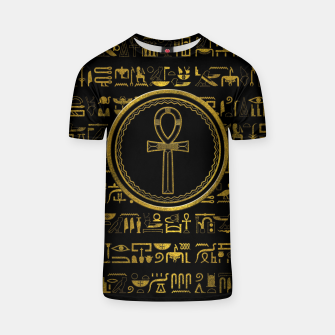 Thumbnail image of Gold Egyptian Ankh Cross symbol T-shirt, Live Heroes