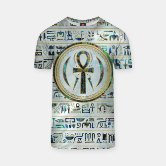 Thumbnail image of Abalone Shell Egyptian Ankh Cross symbol T-shirt, Live Heroes