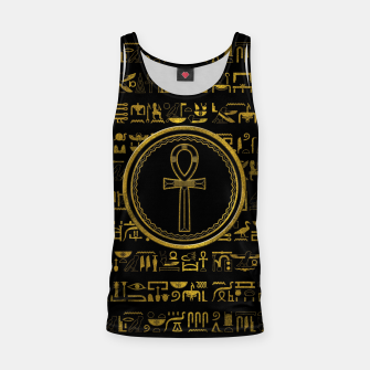 Thumbnail image of Gold Egyptian Ankh Cross symbol Tank Top, Live Heroes