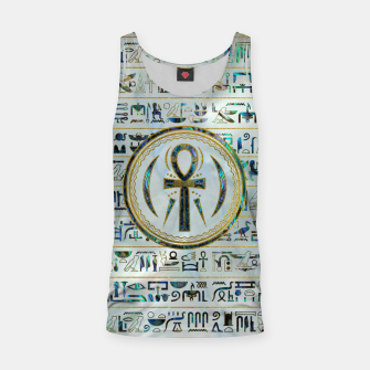Thumbnail image of Abalone Shell Egyptian Ankh Cross symbol Tank Top, Live Heroes