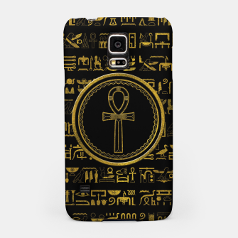 Thumbnail image of Gold Egyptian Ankh Cross symbol Samsung Case, Live Heroes
