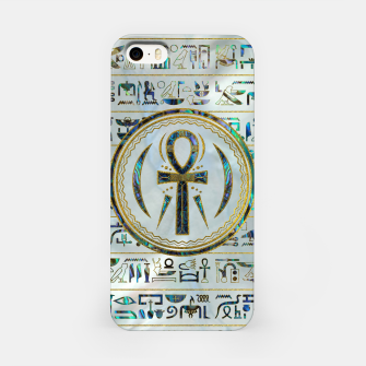 Thumbnail image of Abalone Shell Egyptian Ankh Cross symbol iPhone Case, Live Heroes