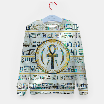 Thumbnail image of Abalone Shell Egyptian Ankh Cross symbol Kid's sweater, Live Heroes