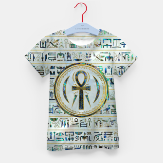 Thumbnail image of Abalone Shell Egyptian Ankh Cross symbol Kid's t-shirt, Live Heroes