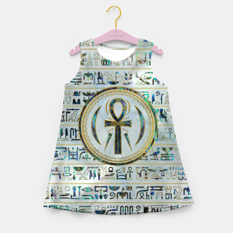 Thumbnail image of Abalone Shell Egyptian Ankh Cross symbol Girl's summer dress, Live Heroes