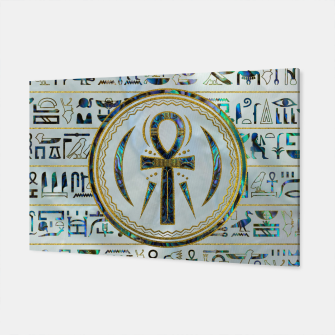 Thumbnail image of Abalone Shell Egyptian Ankh Cross symbol Canvas, Live Heroes