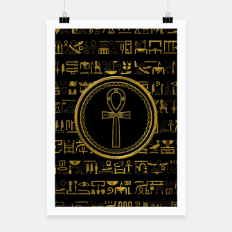 Thumbnail image of Gold Egyptian Ankh Cross symbol Poster, Live Heroes