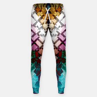 V-Stack Pyramid Abstract Art Cotton sweatpants thumbnail image