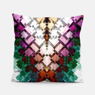 V-Stack Pyramid Abstract Art Pillow thumbnail image