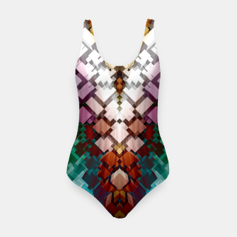 Thumbnail image of V-Stack Pyramid Abstract Art Swimsuit, Live Heroes