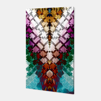 Thumbnail image of V-Stack Pyramid Abstract Art Canvas, Live Heroes