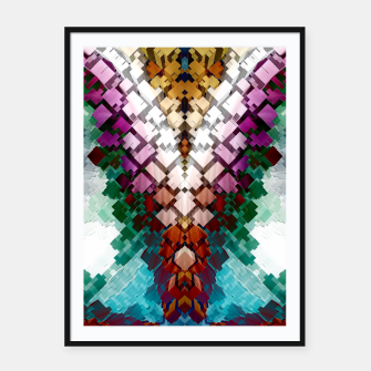 Thumbnail image of V-Stack Pyramid Abstract Art Framed poster, Live Heroes