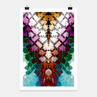 Thumbnail image of V-Stack Pyramid Abstract Art Poster, Live Heroes