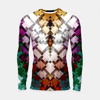 Thumbnail image of V-Stack Pyramid Abstract Art Longsleeve rashguard , Live Heroes