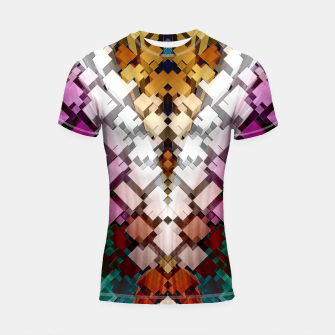 Thumbnail image of V-Stack Pyramid Abstract Art Shortsleeve rashguard, Live Heroes