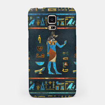 Anubis Egyptian Gold, Blue and Red glass Samsung Case thumbnail image