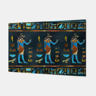 Anubis Egyptian Gold, Blue and Red glass Canvas thumbnail image