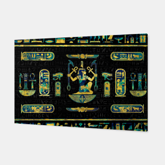 Miniatur Egyptian  Gold and Blue Marble Ornament Canvas, Live Heroes