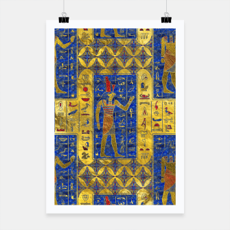 Thumbnail image of Egyptian  Gold  symbols on Lapis Lazuli Poster, Live Heroes