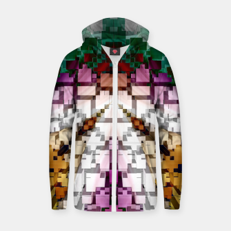 Thumbnail image of Cuboid Pyramid Cotton zip up hoodie, Live Heroes