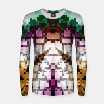 Thumbnail image of Cuboid Pyramid Woman cotton sweater, Live Heroes