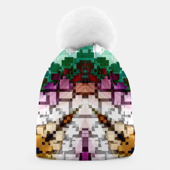 Thumbnail image of Cuboid Pyramid Beanie, Live Heroes