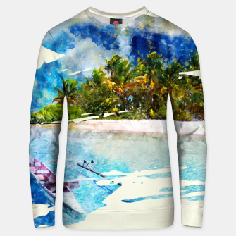 Thumbnail image of Coconut Island Cotton sweater, Live Heroes