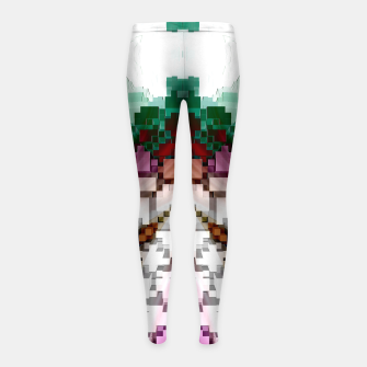 Thumbnail image of Cuboid Pyramid Girl's leggings, Live Heroes