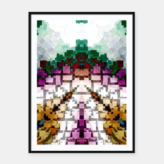 Thumbnail image of Cuboid Pyramid Framed poster, Live Heroes