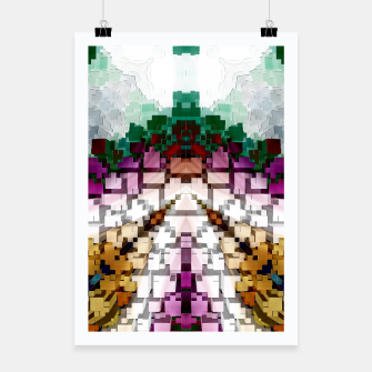 Thumbnail image of Cuboid Pyramid Poster, Live Heroes