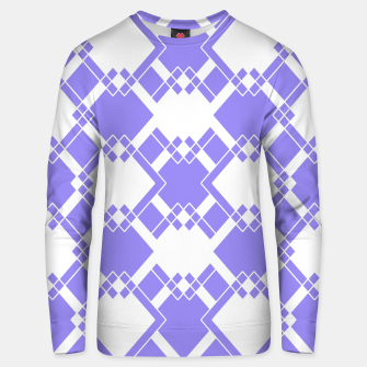 Thumbnail image of Abstract geometric pattern - blue and white. Cotton sweater, Live Heroes