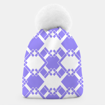Thumbnail image of Abstract geometric pattern - blue and white. Beanie, Live Heroes