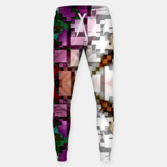 Thumbnail image of Cuboid Pyramid Side Cotton sweatpants, Live Heroes