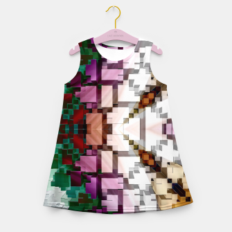 Thumbnail image of Cuboid Pyramid Side Girl's summer dress, Live Heroes