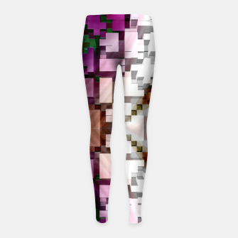 Thumbnail image of Cuboid Pyramid Side Girl's leggings, Live Heroes