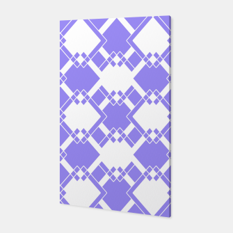Miniatur Abstract geometric pattern - blue and white. Canvas, Live Heroes