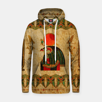 Thumbnail image of Egyptian Horus Ornament on Papyrus Cotton hoodie, Live Heroes
