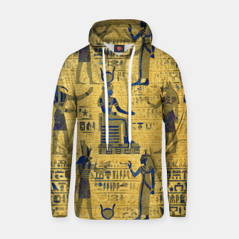 Thumbnail image of Vintage Egyptian Ornament with Lapiz Lazuli Cotton hoodie, Live Heroes