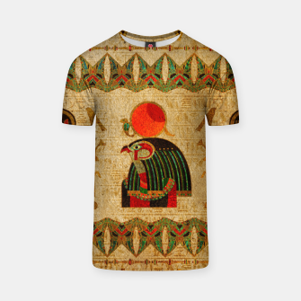 Thumbnail image of Egyptian Horus Ornament on Papyrus T-shirt, Live Heroes