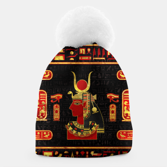 Thumbnail image of Hathor Egyptian Ornament Gold and Red glass Beanie, Live Heroes
